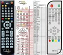 Doonio DST01B and DVB-T03 remote control replacement