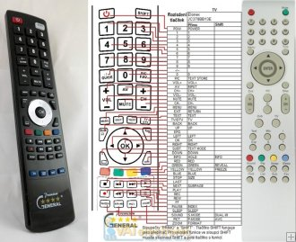 Elonex JC378BB13E - replacement remote control
