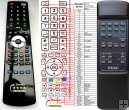 TEAC CD-P1260 - replacement remote control