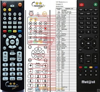 Mut@nt HD1100 remote control replacement