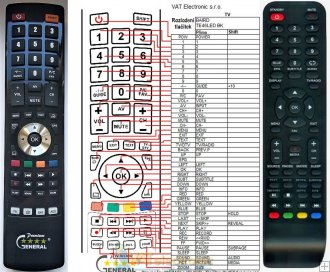 Baird TE46LEDBK remote control replacement