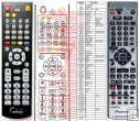 Pioneer VXX2910 (VXX2950, VXX2889) replacement remote control