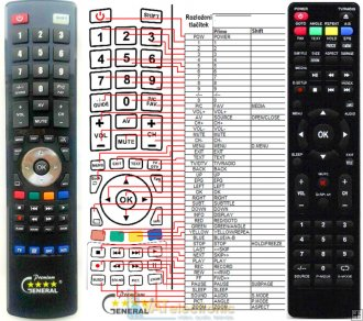 JVT D242KL - replacement remote control