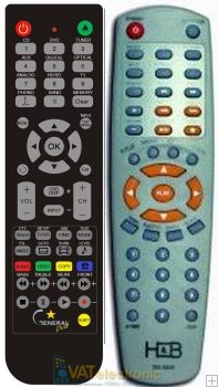 H&B DX3255 and DX3220 - Replacement remote control