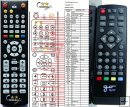Gosat GS1011 remote control replacement