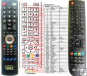 Amiko SHD8900 ALIEN - replacement remote control