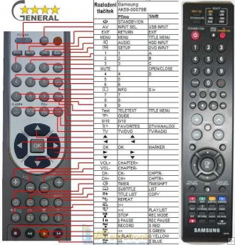 Samsung AK59-00079D - Replacement remote control