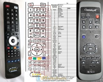 Runco CinemaWall SP-42 replacement remote control