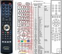 Gericom GTV4201 remote control replacement