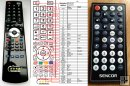 Sencor SCD9404 - replacement remote control