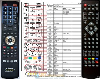 Murphy TV19UK20D remote control replacement