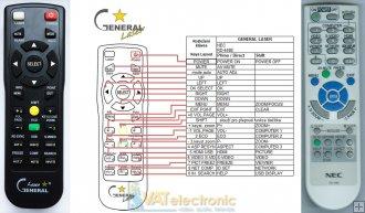 Remote Control for NEC Projector VT670 VT670K VT676