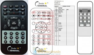 Modecom MC-5060, MC5060 remote control replacement
